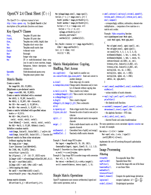 Fillable Online Opencv cheat sheet for C++ - GitHub Fax Email Print