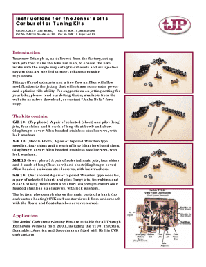 Fillable Online bonniemods Instructions for the Jenks Bolts