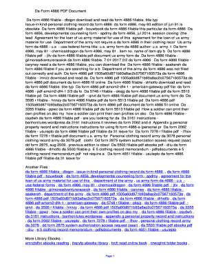 Fillable Online ycet Da Form 4886 PDF ...
