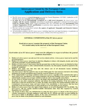 application letter european union