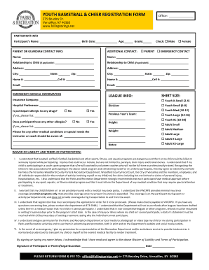 printable youth basketball waiver form edit fill out. Black Bedroom Furniture Sets. Home Design Ideas