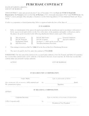 Fillable Online Durhamnc Contract City Of Durham Durhamnc Fax