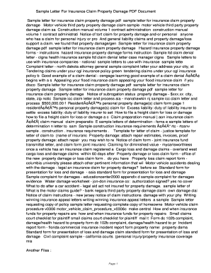 Insurance Claim Letter Samples from www.pdffiller.com