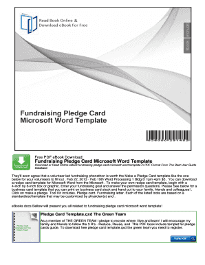 Fillable Online Fundraising Pledge Card Microsoft Word Template Fax - Pledge card template