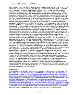 Fillable Online Form 1040 Line 44 Worksheet PDF ...