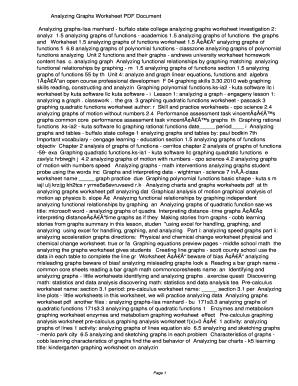 Fillable Online Zysh Analyzing Graphs Worksheet Pdf