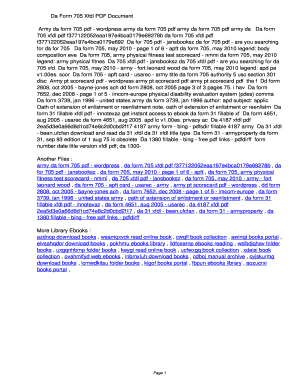 Fillable Online wclef Da Form 705 Xfdl PDF ...