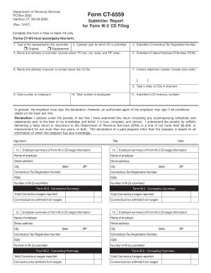 w2 form ct  Fillable Online CT-16, Submitter Report for Form W-16 CD ...