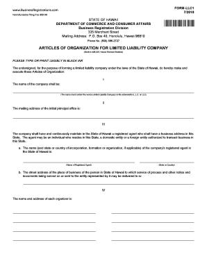 Fillable Online FORM-LLC1 Fax Email Print - PDFfiller