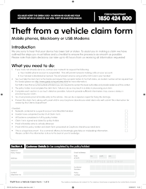 804-03 theft from vehicle claim form.indd