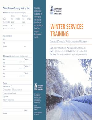 WINTER SERVICES TRAINING - theihe.org