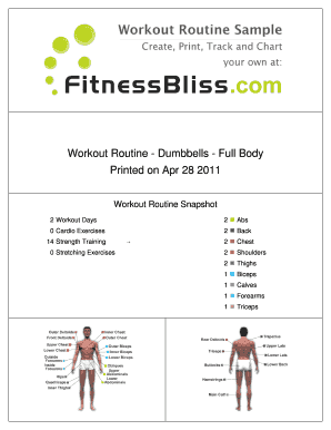 photo relating to Printable Dumbbell Exercises Pdf called upper body health chart at house - Printable Styles File