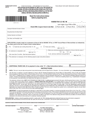 Fillable Online Form GEW-TA-RV-6, 2010, Application for Extension ...