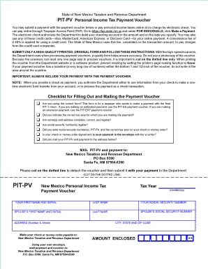 Fillable Online PIT-PV Personal Income Tax Payment Voucher