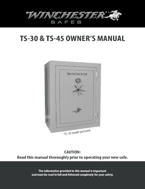 Fillable Online Winchester TS604060 11 Manual Pdf