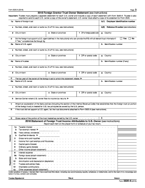 Fillable Online 2016 Form 3520-A. Annual Information Return of ...