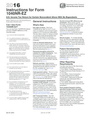 form 1040nr instructions  Fillable Online 12 Instructions for Form 12NR-EZ ...
