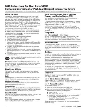 Form 540nr instructions 2015.
