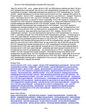 Fillable Online ddwdz Da Form 4187 Reclassification Example PDF ...