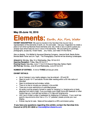 Elements: Earth, Air, Fire, Water