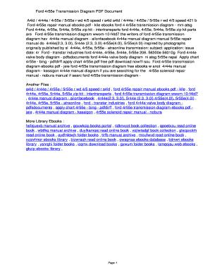 Fillable Online seqxp Ford 4r55e Transmission Diagram PDF