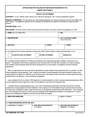 Fillable Online DD Form 2904, Application for Voluntary