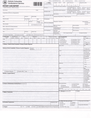 DOWNLOAD THE BCAS PATIENT CARE REPORT FORM Fill Online, Printable