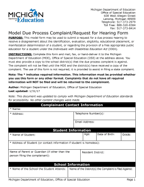 6 Model Complaint Forms Free Documents in Word PDF - Fill Out, Print & Download Online Forms ...