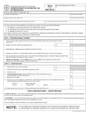 Mo 1040 short form 2016 - Edit Online, Fill Out & Download ...