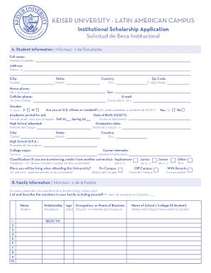 Keiser University Email >> Fillable Online Keiseruniversity Edu Scholarship Application