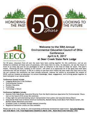 Download the Full Conference Registration Packet here - eeco wildapricot