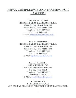 Editable hipaa lawyer near me - Fill, Print & Download