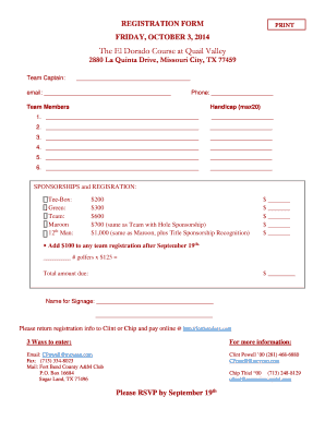 2014 FORT BEND Co. A&M CLUB SCHOLARSHIP GOLF