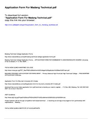 Madang technical college acceptance letter fill online printable madang technical college acceptance letter altavistaventures Choice Image