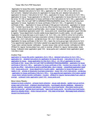Fillable Online ioieb Texas 130u Form PDF ...