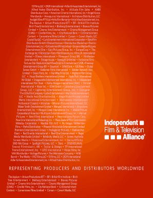 Fillable Online 13 Films, LLC 2929 International Adler & Associates
