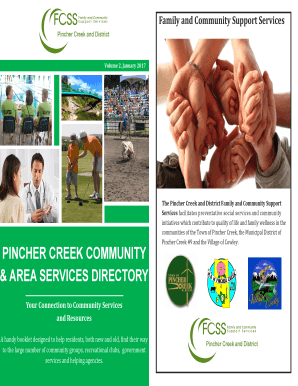 Download a copy of the Pincher Creek Community Services Directory - pinchercreek