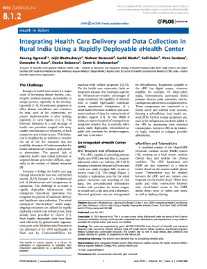 Handout 8.1.2. Journal Article on the eHealth Center - MEASURE  - measureevaluation