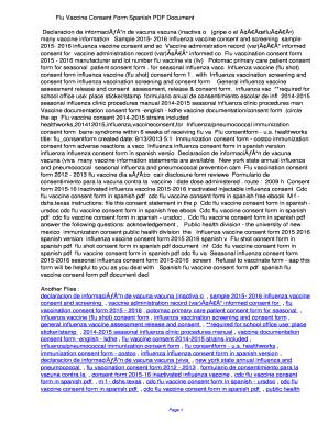 Fillable Online ulphd Flu Vaccine Consent Form Spanish PDF ...