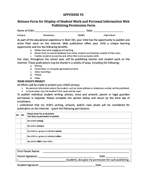 Fillable Online Martisd Appendix Vi Release Form For