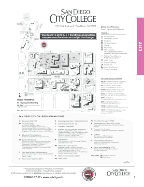 San Diego City College Map Fillable Online San Diego City College   Campus Map   BPPE Fax
