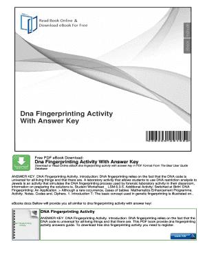 Fillable Online Fingerprint Activity Worksheet Pdf Document Search