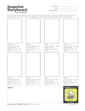 snapchat template pdf - Edit, Fill, Print & Download Best
