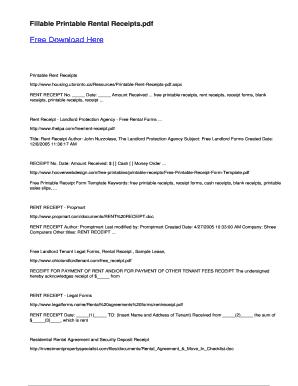 free fillable rent receipt pdf