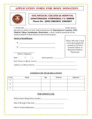 Fillable Online esicmchyd ac Application Form - ESIC Medical