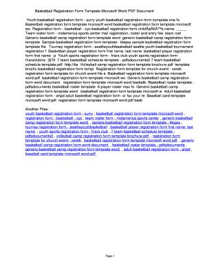 Basketball Registration Form Template Microsoft Word PDF  426bff1cf3d43c378a547b60da18d13e. Basketball Registration Form Template  Microsoft Word