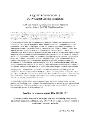 Fillable Online RFP - DCTV Integration FINAL Fax Email Print
