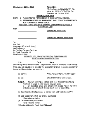 Fillable Online Copy of DOWN LOADING OF CAR SANCTION LETTER FROM