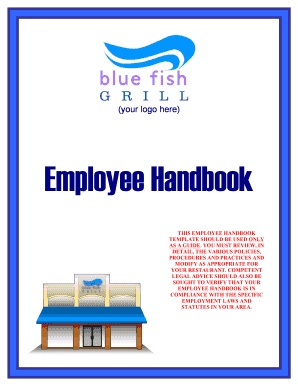 Edit online fill out download business forms in word for Free employee handbook template for small business