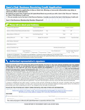on sam s club application form